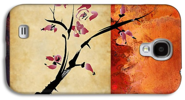 Cherry Blossoms Mixed Media Galaxy S4 Cases - Cherry Blossom Galaxy S4 Case by Rob Tullis