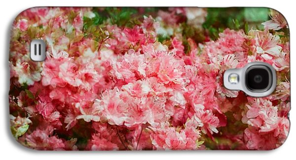 Cherry Blossoms Pyrography Galaxy S4 Cases - Cherry Blossom  Galaxy S4 Case by Ronna Curelea