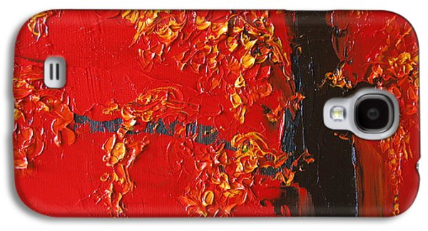 Cherry Blossoms Galaxy S4 Cases - Cherry Blossom Tree - Red Yellow Galaxy S4 Case by Patricia Awapara