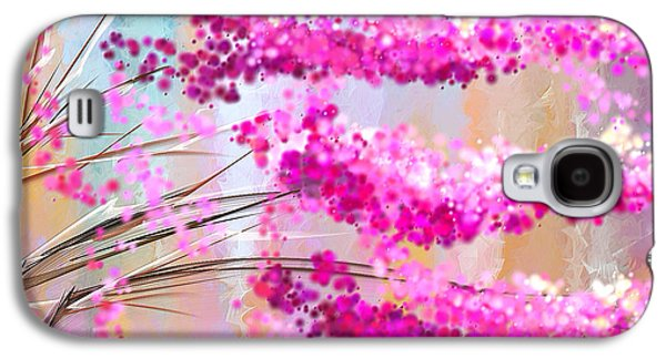 Cherry Blossoms Galaxy S4 Cases - Cherry Blossoms Impressionist Galaxy S4 Case by Lourry Legarde