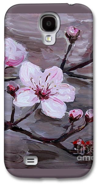 Business Galaxy S4 Cases - Cherry Blossoms Galaxy S4 Case by Maria Langgle
