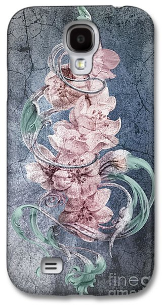 Cherry Blossoms On Vintage Galaxy S4 Case by Irina Effa
