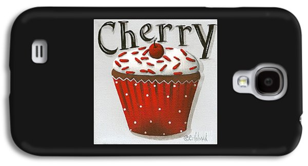 Catherine White Paintings Galaxy S4 Cases - Cherry Celebration Galaxy S4 Case by Catherine Holman