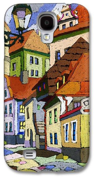 Old Street Galaxy S4 Cases - Chesky Krumlov Masna Street 1 Galaxy S4 Case by Yuriy  Shevchuk