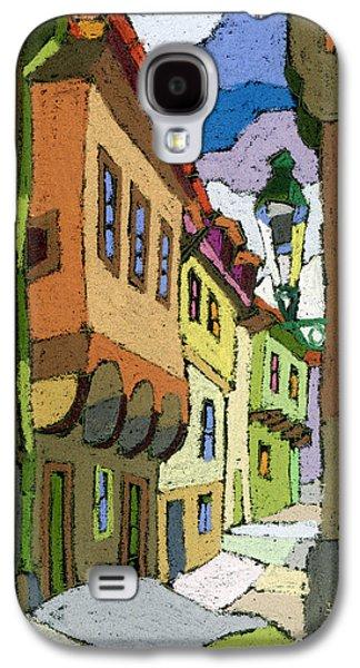 Old Street Galaxy S4 Cases - Chesky Krumlov Street Nove Mesto Galaxy S4 Case by Yuriy  Shevchuk