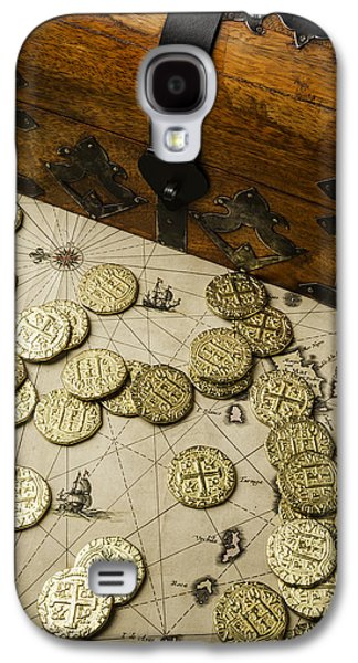 Chest With Pirate Treasure Galaxy S4 Case by Garry Gay