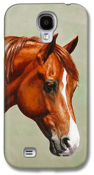 Chestnut Horse Galaxy S4 Cases - Chestnut Morgan Horse Phone Case Galaxy S4 Case by Crista Forest