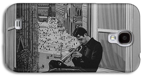 Pepper Paintings Galaxy S4 Cases - Chet Baker Galaxy S4 Case by Paul Meijering