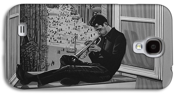 Pepper Paintings Galaxy S4 Cases - Chet Baker Galaxy S4 Case by Paul Meijering