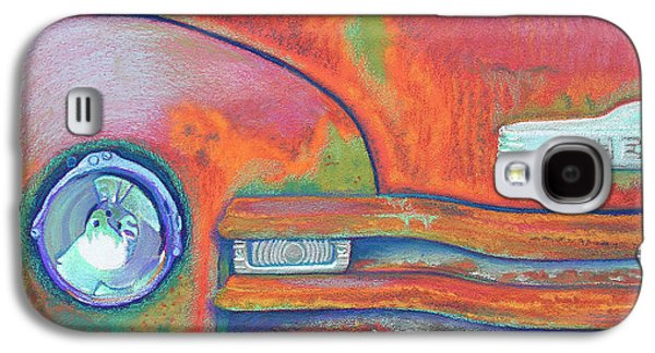 Transportation Pastels Galaxy S4 Cases - Chevy Rust Galaxy S4 Case by Tracy L Teeter