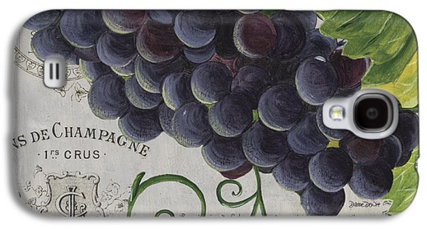 Grape Leaf Galaxy S4 Cases - Vins de Champagne 2 Galaxy S4 Case by Debbie DeWitt