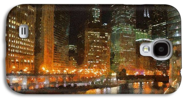 Chicago At Night Galaxy S4 Case by Jeff Kolker