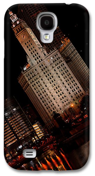 Chicago River Galaxy S4 Cases - Chicago at Night Galaxy S4 Case by Lone  Dakota Photography