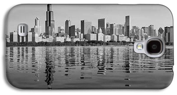 Schwartz Galaxy S4 Cases - Chicago Black and White Morning Galaxy S4 Case by Donald Schwartz