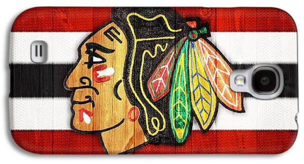 Chicago Blackhawks Barn Door Galaxy S4 Case by Dan Sproul