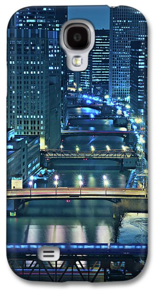 Chicago Galaxy S4 Cases - Chicago Bridges Galaxy S4 Case by Steve Gadomski