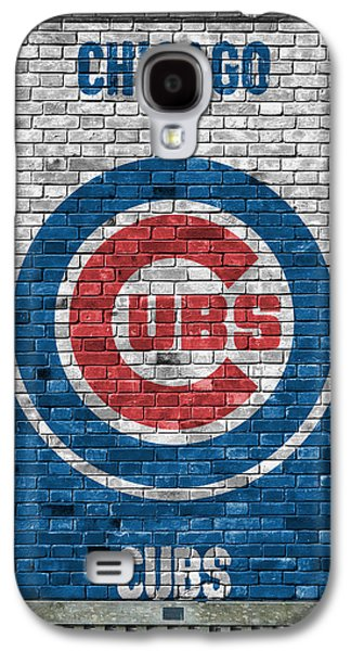 Chicago Cubs Brick Wall Galaxy S4 Case by Joe Hamilton