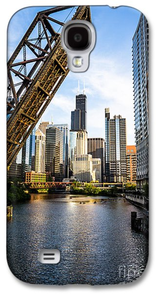 Chicago Downtown And Kinzie Street Railroad Bridge Galaxy S4 Case by Paul Velgos