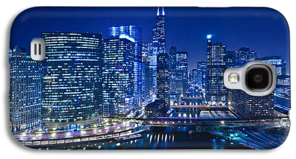 Willis Tower Galaxy S4 Cases - Chicago River Panorama Galaxy S4 Case by Steve Gadomski