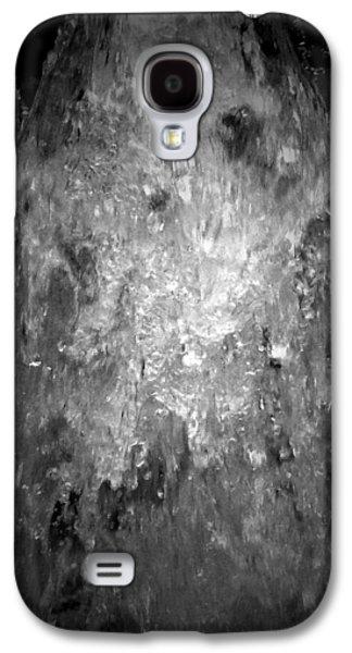 Abstract Digital Digital Galaxy S4 Cases - Chicago Riverwalk Fountain - Detail 2 B n W Galaxy S4 Case by Richard Andrews