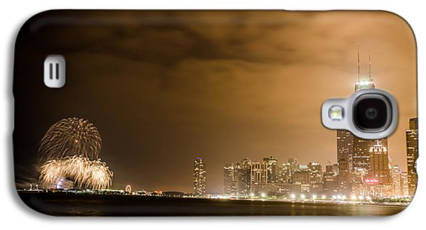4th July Galaxy S4 Cases - Chicago Skyline Fireworks Finale Galaxy S4 Case by Anthony Doudt