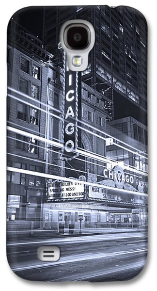 Chicago Galaxy S4 Cases - Chicago Theater Marquee B and W Galaxy S4 Case by Steve Gadomski