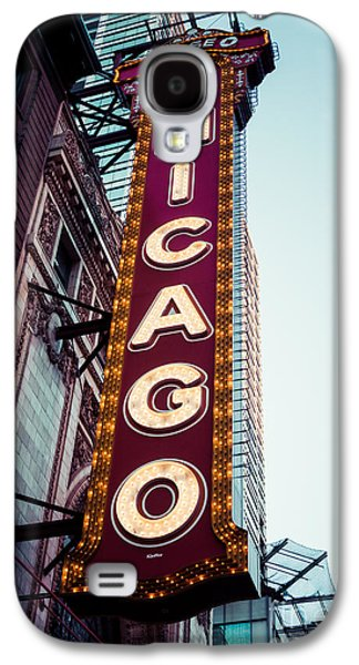 Treatment Galaxy S4 Cases - Chicago Theatre Marquee Sign Vintage Galaxy S4 Case by Paul Velgos