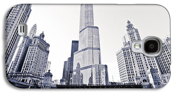 Wrigley Galaxy S4 Cases - Chicago Trump Tower and Wrigley Building Galaxy S4 Case by Paul Velgos