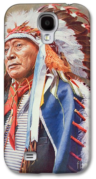 Leaders Galaxy S4 Cases - Chief Hollow Horn Bear Galaxy S4 Case by American School