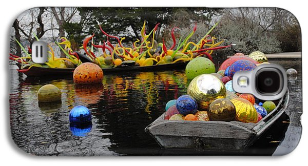 Transportation Glass Galaxy S4 Cases - Chihuly Boats 1 Galaxy S4 Case by Jon Kerr