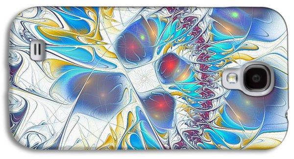 Abstract Digital Mixed Media Galaxy S4 Cases - Childs Play Galaxy S4 Case by Anastasiya Malakhova