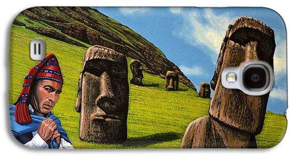 Green Galaxy S4 Cases - Chile Easter Island Galaxy S4 Case by Paul Meijering