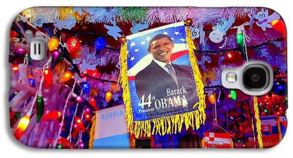 Barack Obama Galaxy S4 Cases - Chili Pepper Barack Galaxy S4 Case by Ed Weidman