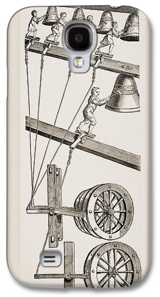 Chimes Of The Clock Of St. Lambert In Galaxy S4 Case by Vintage Design Pics