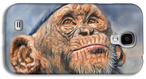 Chimp Galaxy S4 Case by David Stribbling