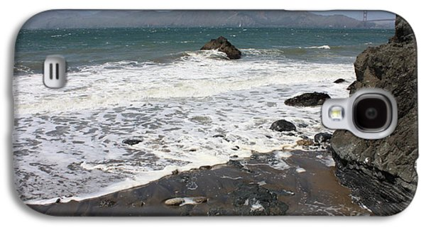 China Beach Galaxy S4 Cases - China Beach with Outgoing Wave Galaxy S4 Case by Carol Groenen