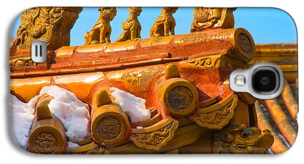 Rooftop Galaxy S4 Cases - China Forbidden City Roof Decoration Galaxy S4 Case by Sebastian Musial