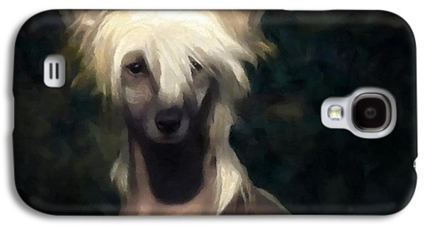 Dogs Digital Art Galaxy S4 Cases - Chinese crested dog Galaxy S4 Case by Gun Legler