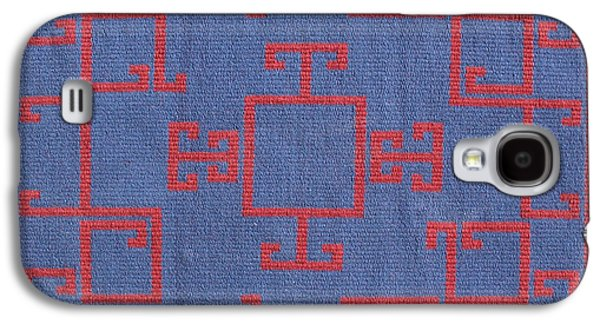Indian Tapestries - Textiles Galaxy S4 Cases - Chinese Lattice #7 Galaxy S4 Case by Judy Hilbish