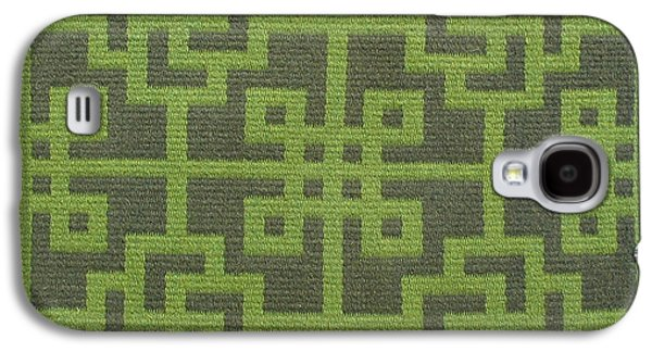 Indian Tapestries - Textiles Galaxy S4 Cases - Chinese Lattice #8 Galaxy S4 Case by Judy Hilbish
