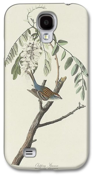 Sparrow Galaxy S4 Cases - Chipping Sparrow Galaxy S4 Case by John James Audubon