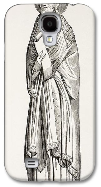 Statue Portrait Drawings Galaxy S4 Cases - Chlothar I, Or Clotaire, Born C. 497 Galaxy S4 Case by Ken Welsh