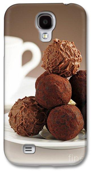 Espresso Galaxy S4 Cases - Chocolate truffles and coffee Galaxy S4 Case by Elena Elisseeva