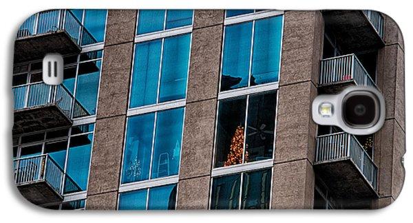 Chrastmas Tree Seen In An Apartment Of A Skyscraper Condo Buildi Galaxy S4 Case by Alexandr Grichenko