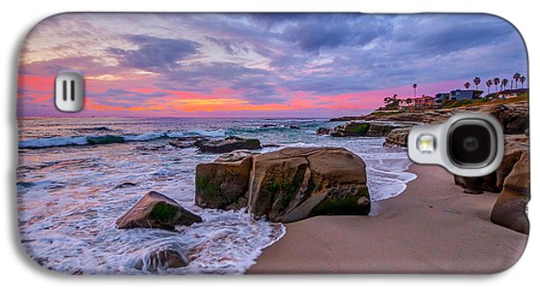 California Beaches Galaxy S4 Cases - Chriss Rock Galaxy S4 Case by Peter Tellone