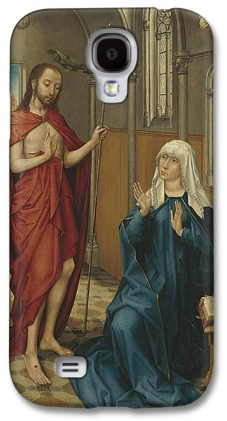 The Followers Galaxy S4 Cases - Christ Appearing To The Virgin Galaxy S4 Case by Follower Of Rogier Van Der Weyden