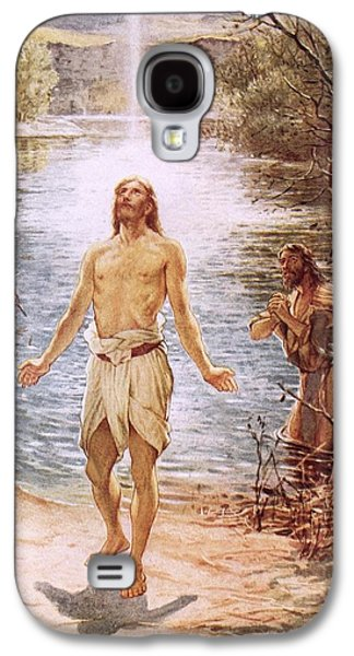 Christ Baptised By John The Baptist Galaxy S4 Case by William Brassey Hole