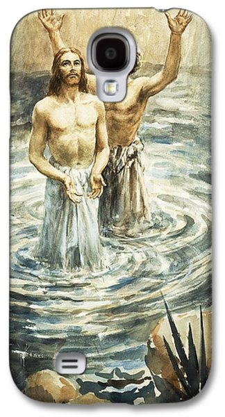 Baptist Paintings Galaxy S4 Cases - Christ being baptised Galaxy S4 Case by Henry Coller