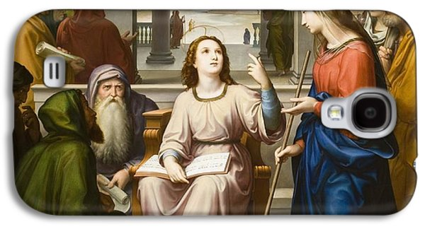 Religious Galaxy S4 Cases - Christ Disputing with the Doctors in the Temple Galaxy S4 Case by Franz von Rohden