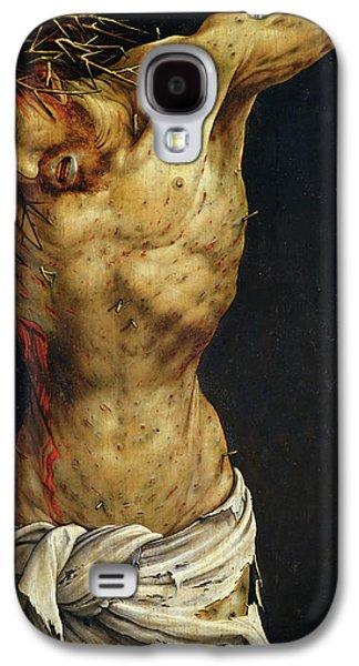 Cloth Galaxy S4 Cases - Christ on the Cross Galaxy S4 Case by Matthias Grunewald